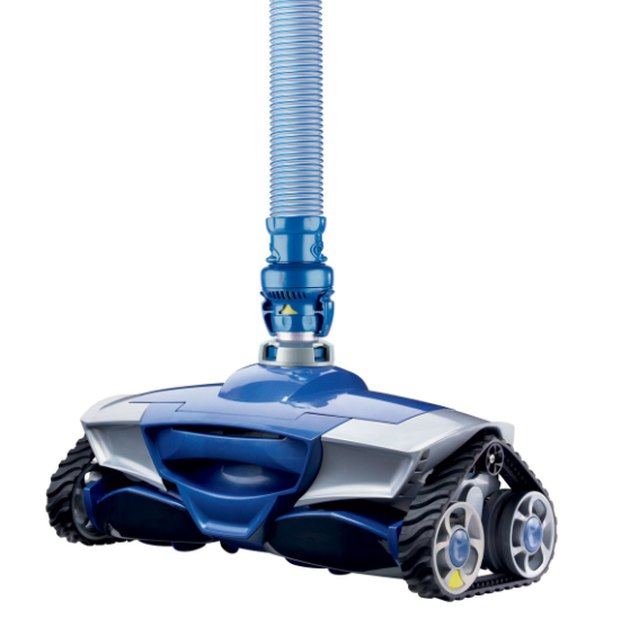 A self-propelled swimming pool vacuum.