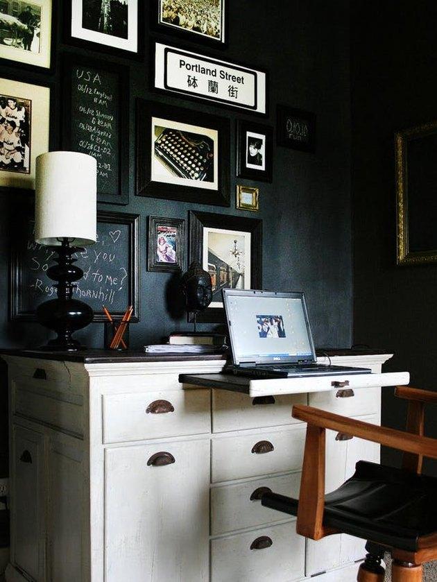 vintage dresser as desk