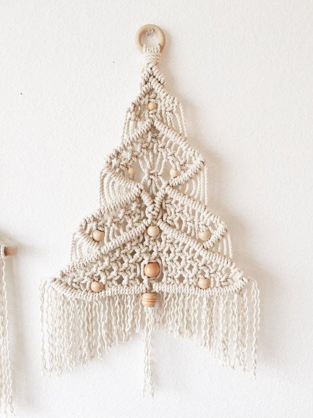 christmas tree alternative macarame