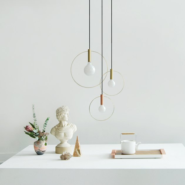 cluster of pendant lights
