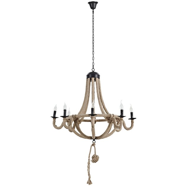 hemp rope chandelier