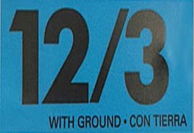 Electrical cable label.