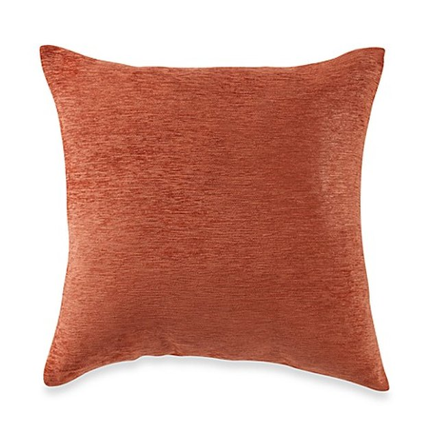 Burnt orange square throw pillow