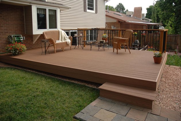 A beautiful outdoor deck.