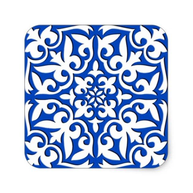 Cobalt blue moroccan tile