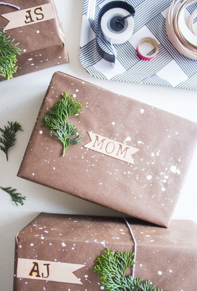 snow wrapping paper