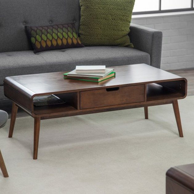 standard rectangular midcentury coffee table