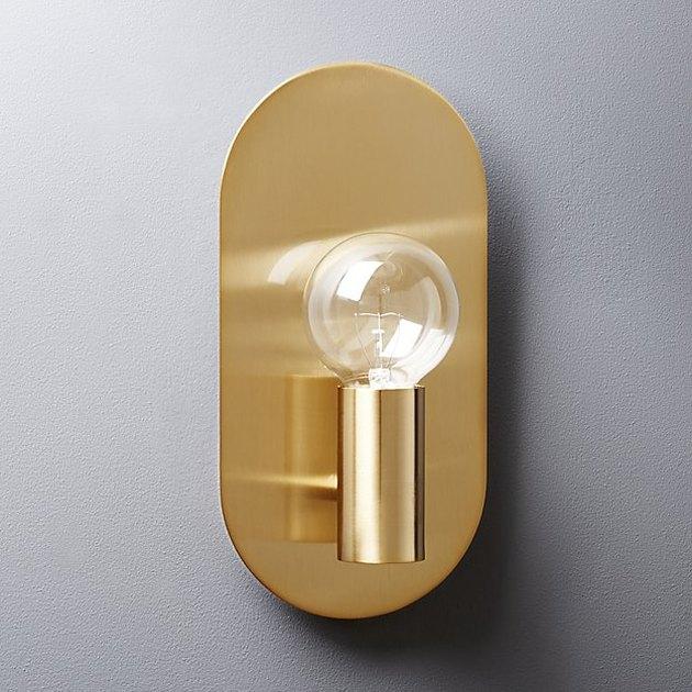 CB2 Plate Brass Wall Sconce