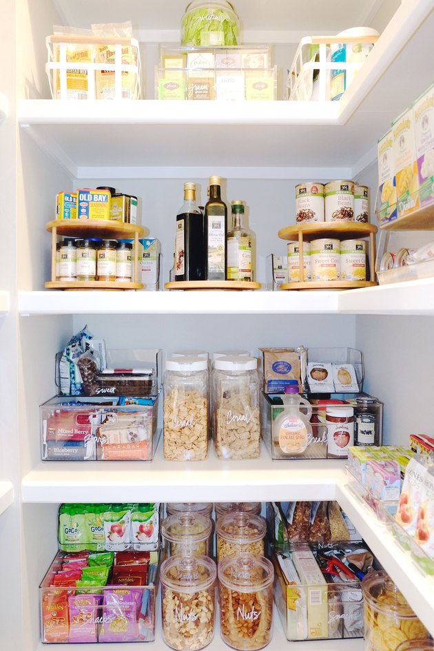 prioritized pantry shelf space
