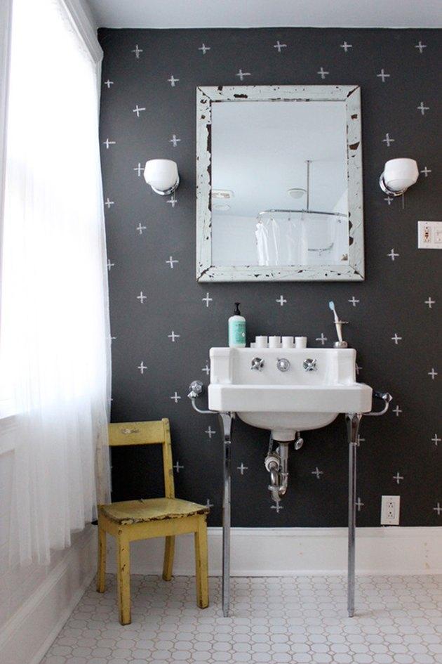chalkboard paint in a bathroom