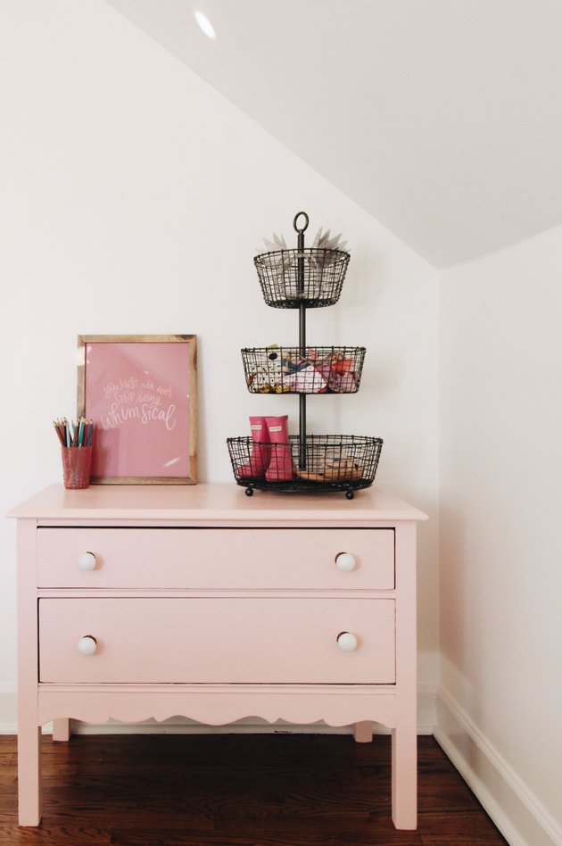 pink vintage dresser