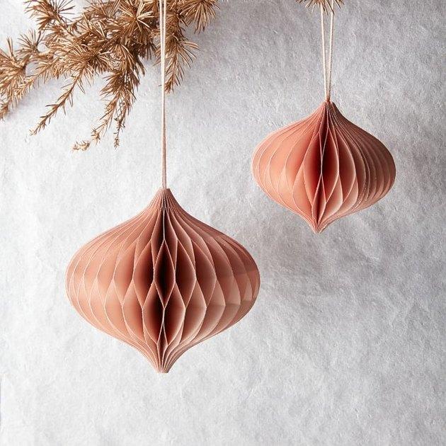 pink paper ornaments