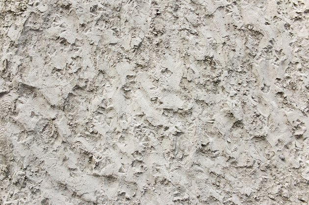 Popcorn textured ceiling.