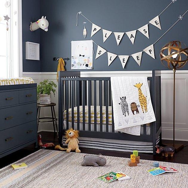 charcoal color theme nursery