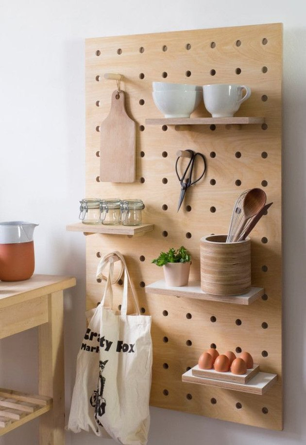pegboard kitchen shelf storage christopher todd home