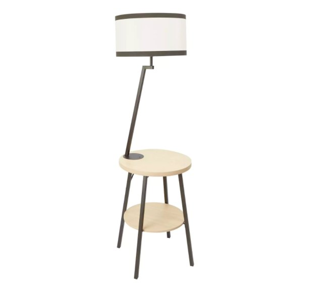floor lamp with shelves