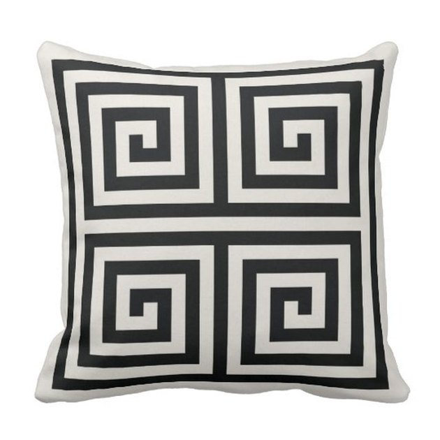 zazzle black and white geometric throw pillow