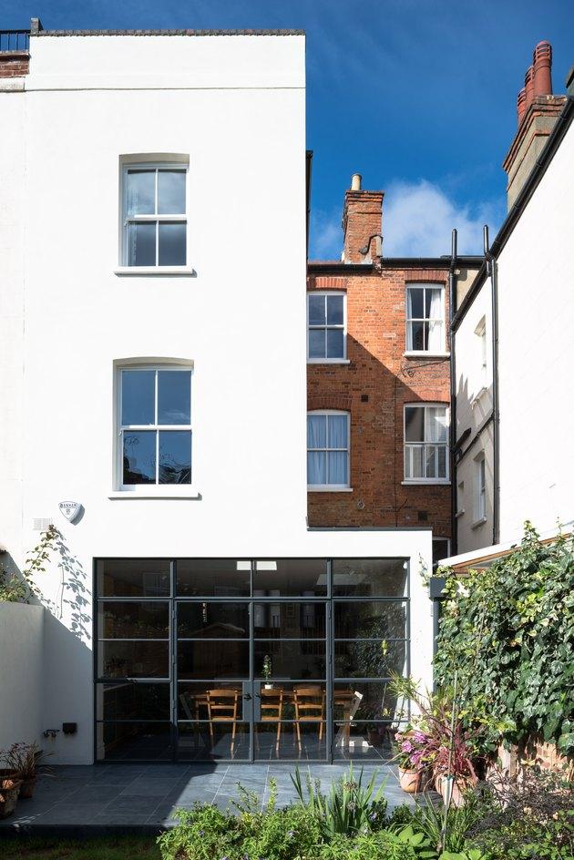 Modernist MW Architects Hampstead Kitchen White Facade London