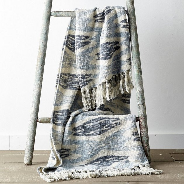 Denim Ikat Throw