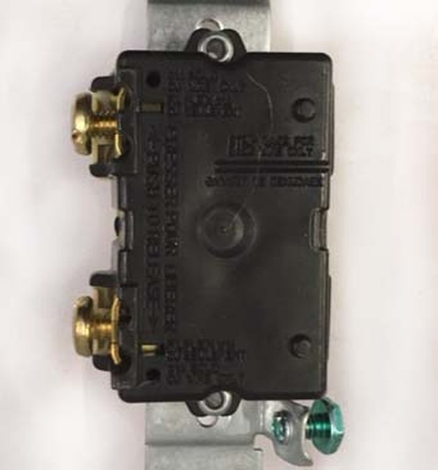 Reverse side of simple switch.