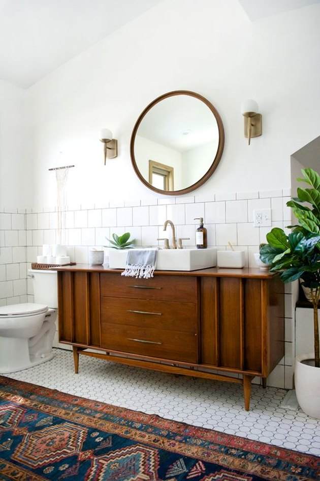 vintage credenza bathroom vanity