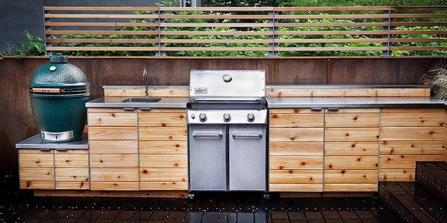 cedar outdoor kitchen
