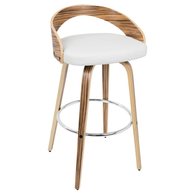 Retro white and wood barstool