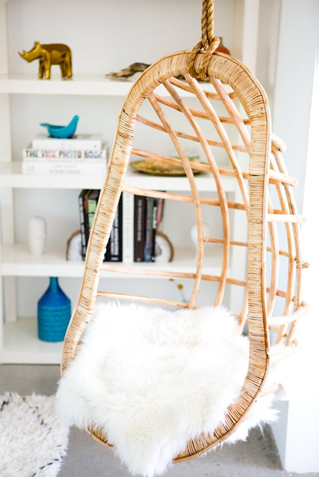 hanging chair in living room