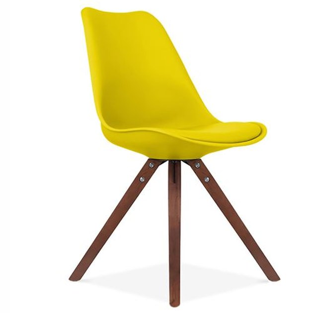 Yellow Mid Century Dining Chair