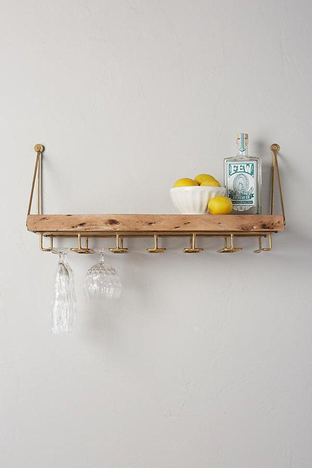 Live-Edge Bar Shelf