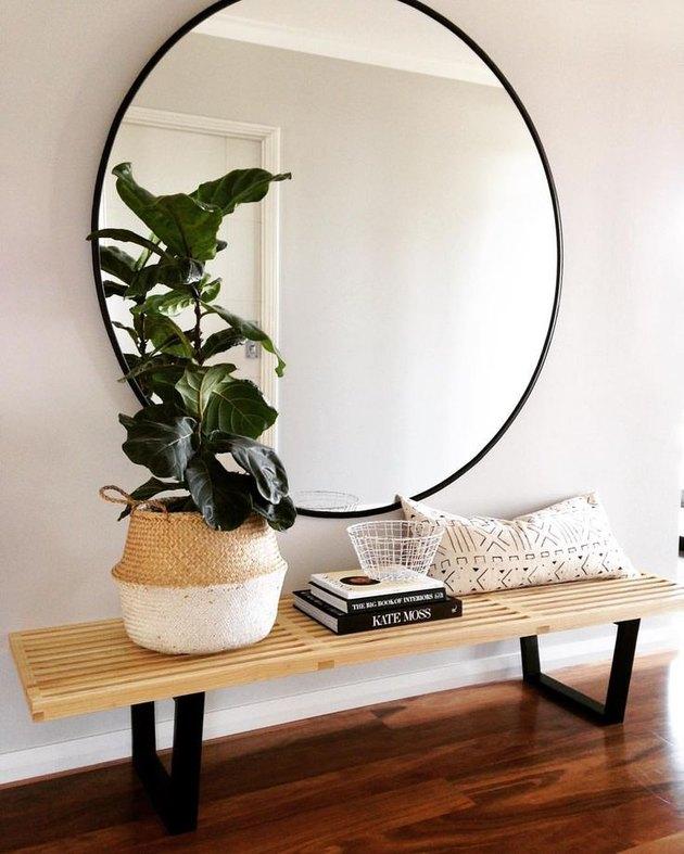 round hall mirror