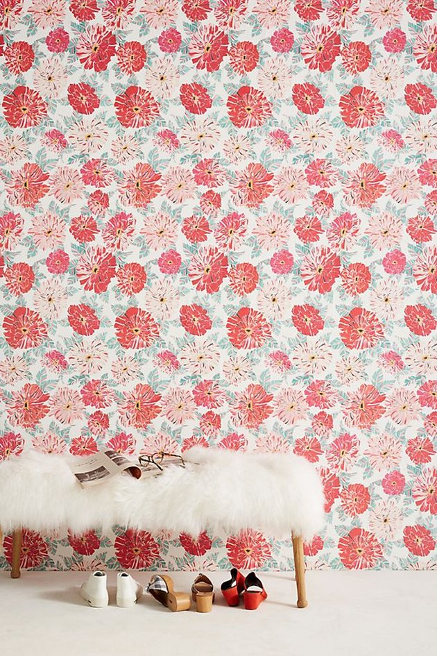 floral wallcovering