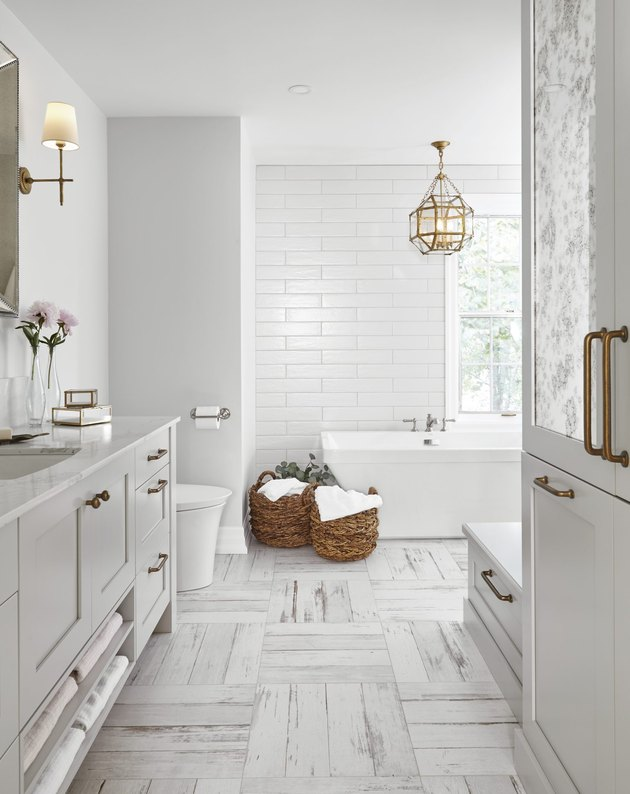 light gray bathroom