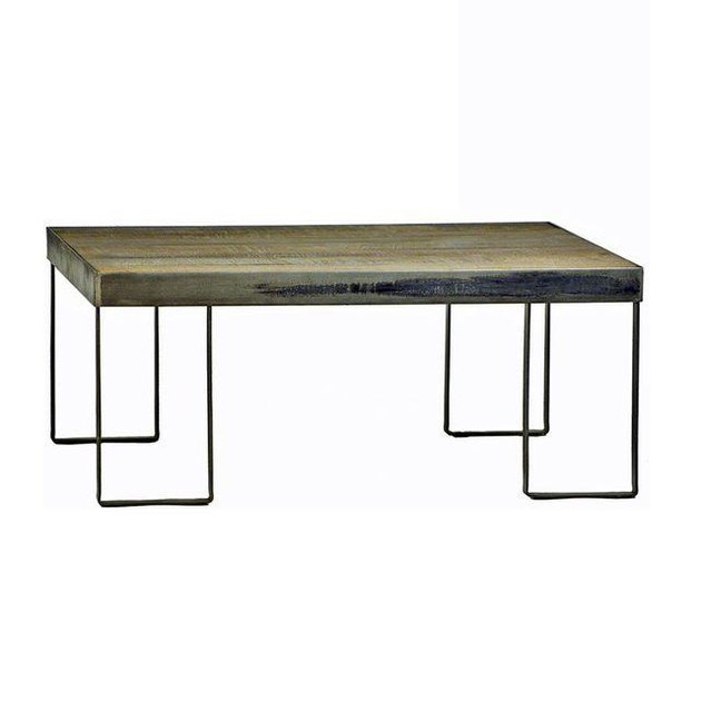 Chairish industrial wood coffee table.