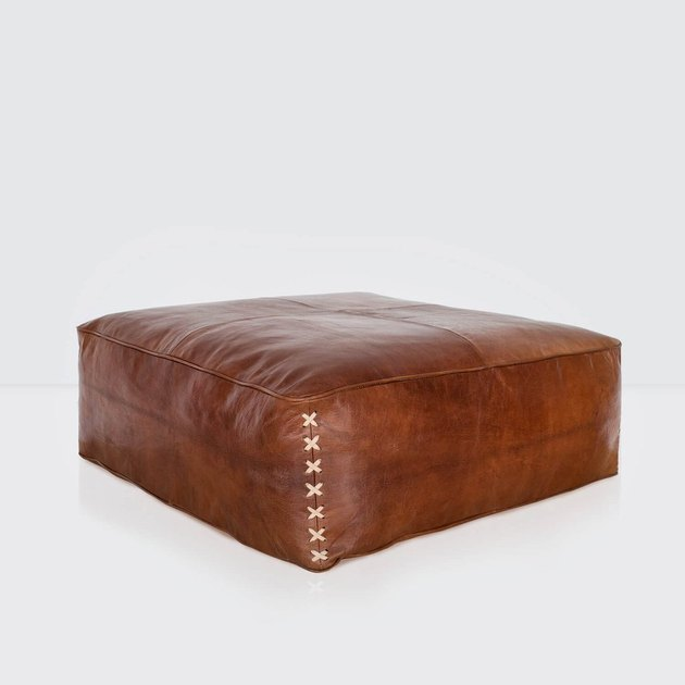 Riad leather floor pillow.