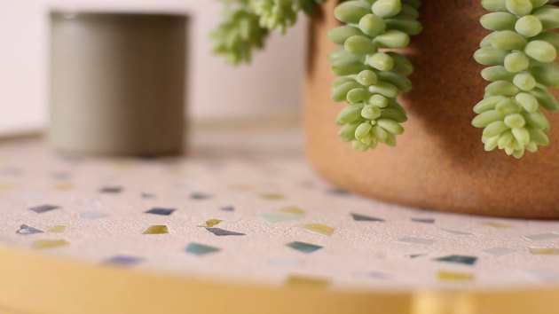 Terrazzo-inspired tabletop IKEA hack