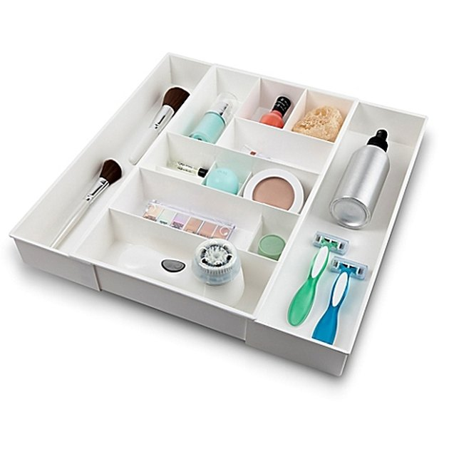 Expandable Plastic Cosmetic Drawer Organizer