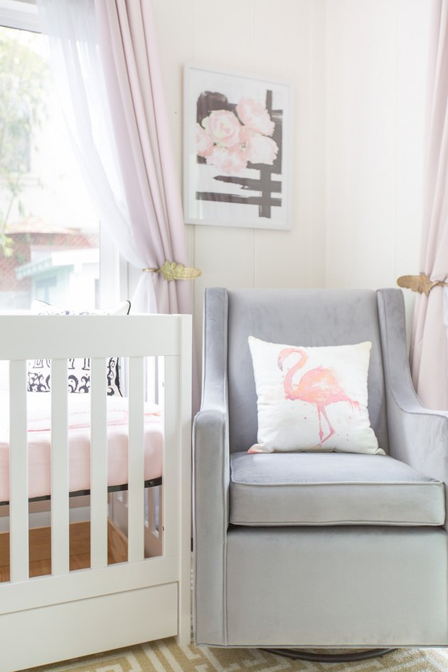 How to Use Bold Botanical Wallpaper in a Nursery