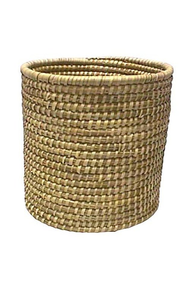 Woven basket planter