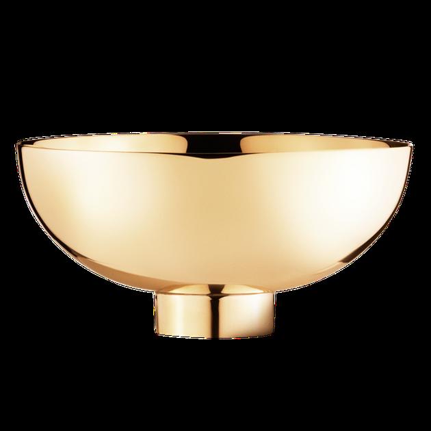 Decorative shiny brass bowl