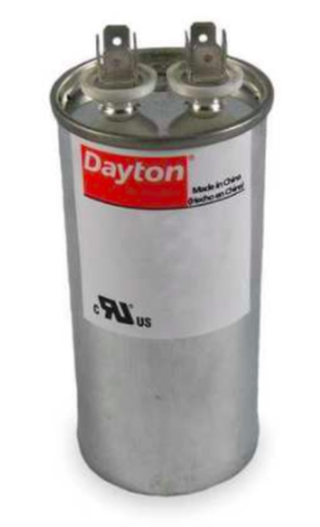 A Dayton-brand capacitor.