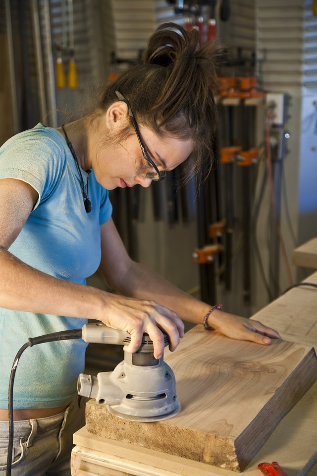 Young Woman Cabinet Making