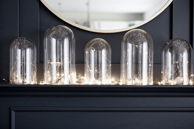 Create a Warm Holiday Display Using Glass Cloches and Lights | Hunker