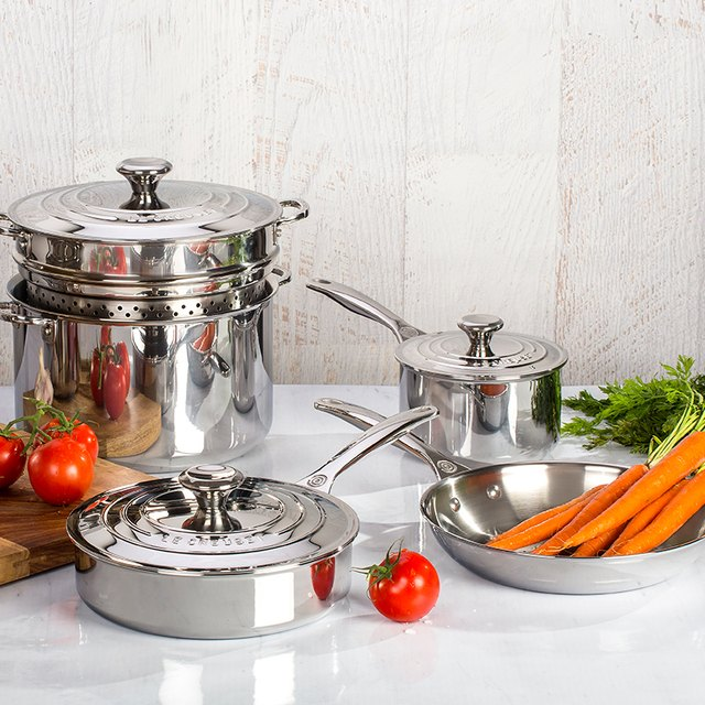 stainless steel cooking set