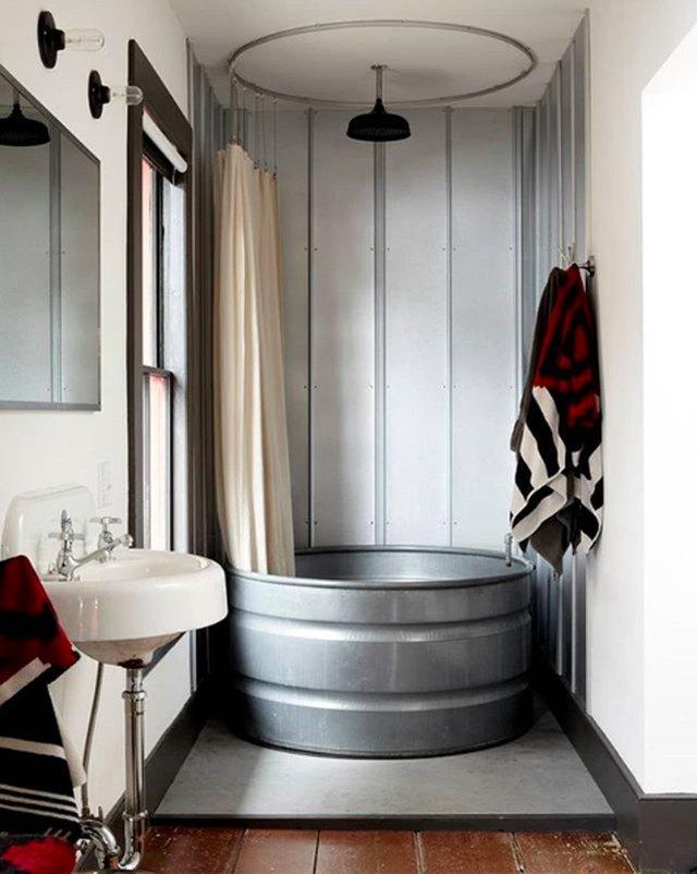 galvanized steel bathtub