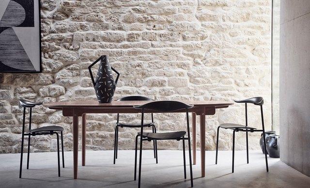 Hans Wegner wooden stacking chairs