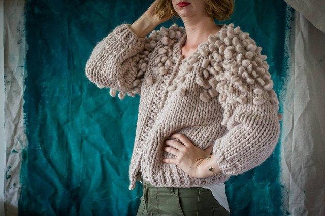 Relaxed modern handknit sweater