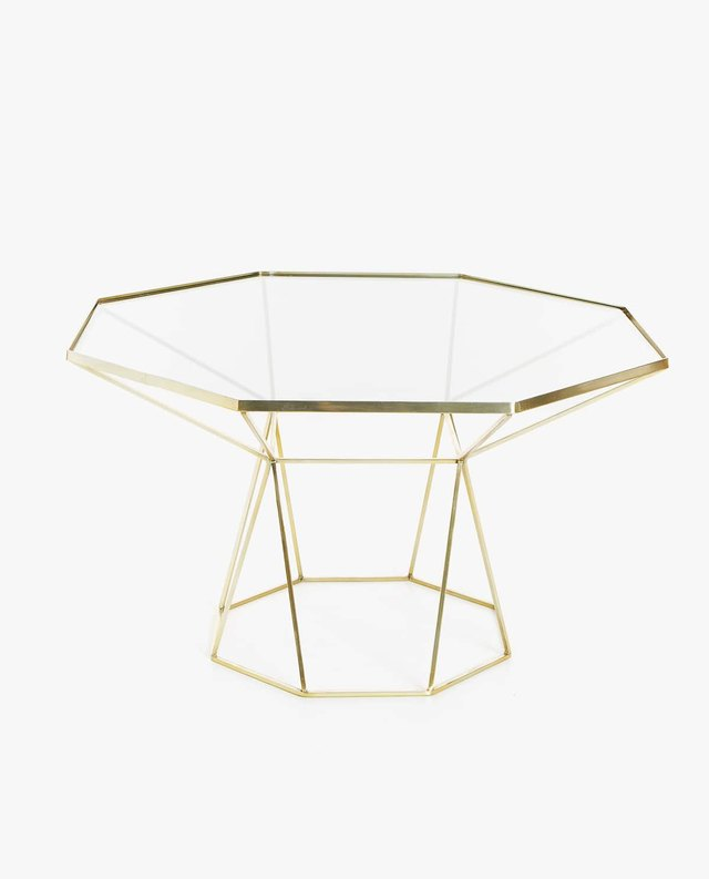 Large gold octagonal table