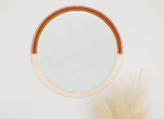 Easy DIY Tutorial: Boho Mirror Featuring Wood and Yarn | Hunker