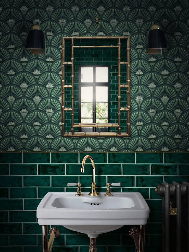 These 7 Art Deco Bathroom Ideas Will Make Your Space Feel Next Level Glamorous | Hunker